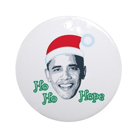 Ho Ho Hope Ornament (Round)