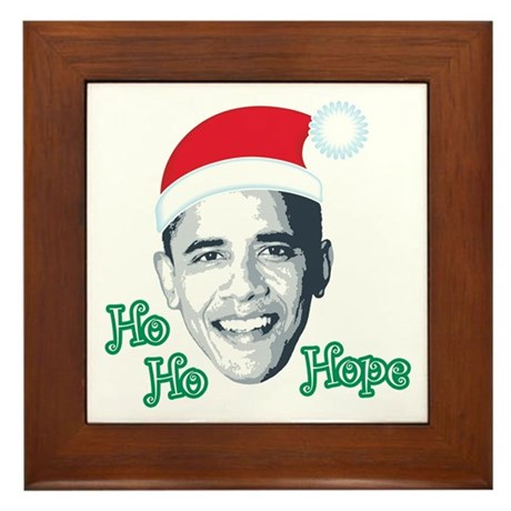 Ho Ho Hope Framed Tile
