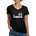 The Hotel Motel Cartel Women's V-Neck Dark T-Shirt