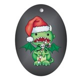 Christmas Devil Oval Ornament