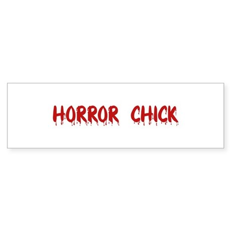 Horror Chick Bumper Sticker