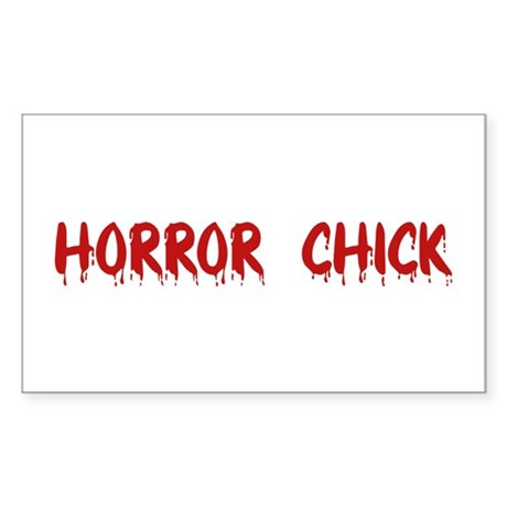 Horror Chick Rectangle Sticker
