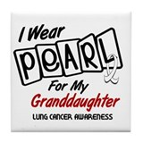 I Wear Pearl For My Granddaughter 8 Tile Coaster