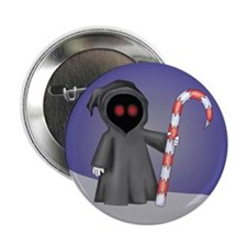 "Christmas Grim Reaper 2.25"" Button (10 pack)"