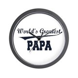World's Greatest Papa Wall Clock