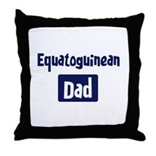 Equatoguinean Dad Throw Pillow