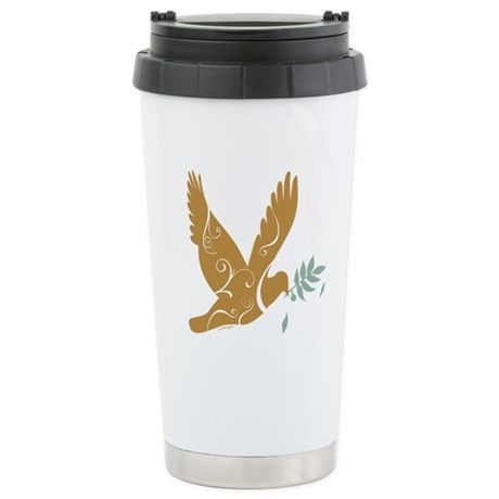 Golden Peace Ceramic Travel Mug