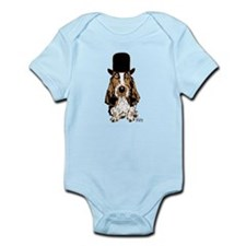 British hat Basset Hound Infant Bodysuit
