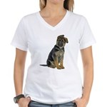 German Shepherd Puppy Women's V-Neck T-Shirt