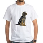 German Shepherd Puppy White T-Shirt
