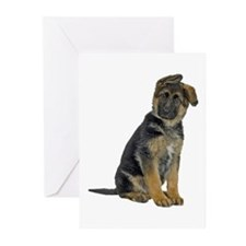 German Shepherd Puppy Greeting Cards (Pk of 10)