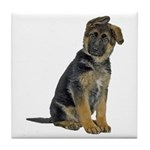 German Shepherd Puppy Tile Coaster