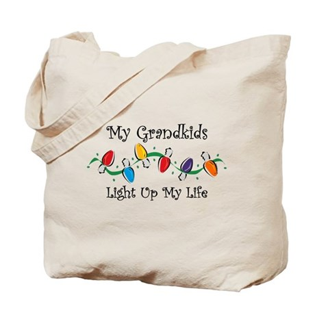 Grandkids Light My Life Tote Bag