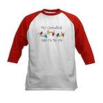 Grandkids Light My Life Kids Baseball Jersey