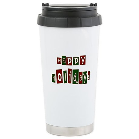 Happy Holidays Ceramic Travel Mug