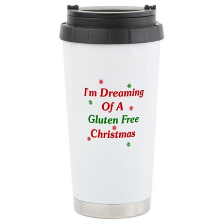 Dreaming Of A Gluten Free Christmas Ceramic Travel