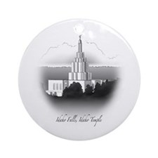 Idaho Falls, Idaho Temple Ornament (Round)