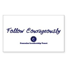 Follow Courageously Rectangle Sticker 10 pk)