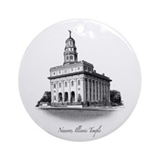 Nauvoo, Illinois Temple Ornament (Round)