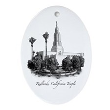 Redlands, California Temple Oval Ornament