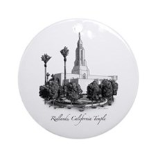 Redlands, California Temple Ornament (Round)