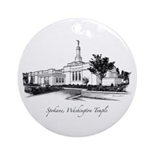 Spokane, Washington Temple 2 Ornament (Round)