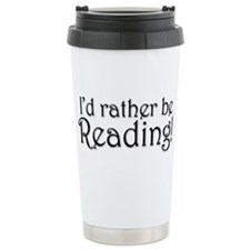Rather Be Reading Ceramic Travel Mug