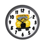 School Bus Wall Clock