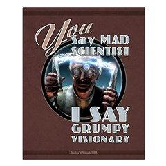 Mad Scientist? Grumpy Visionary Poster 16x20""