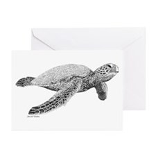 Green Sea Turtle Greeting Cards (Pk of 20)