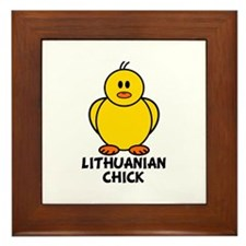 Lithuanian Chick Framed Tile
