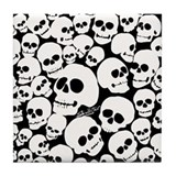 Pile of Skulls Tile Coaster