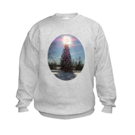 Christmas Peace Kids Sweatshirt