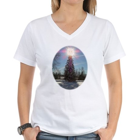 Christmas Peace Women's V-Neck T-Shirt