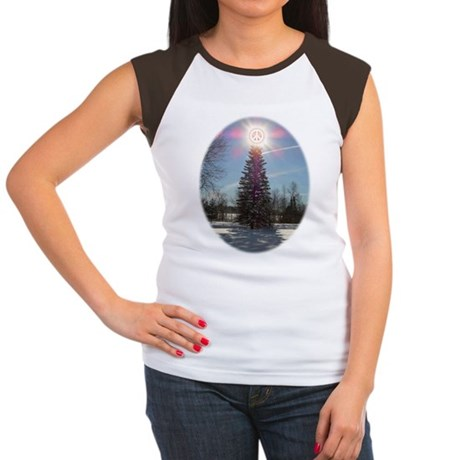 Christmas Peace Women's Cap Sleeve T-Shirt