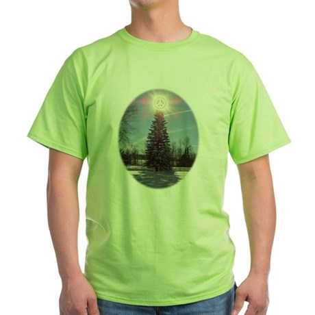 Christmas Peace Green T-Shirt