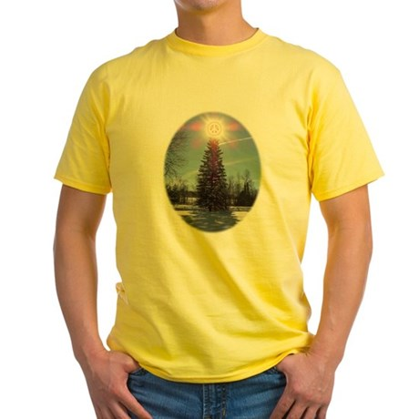 Christmas Peace Yellow T-Shirt