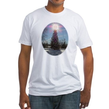 Christmas Peace Fitted T-Shirt