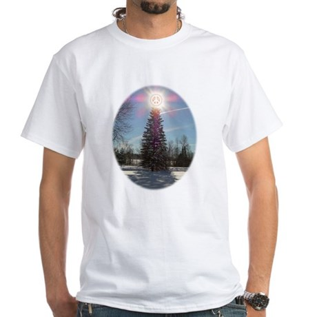 Christmas Peace White T-Shirt