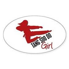 Tang Soo Do Girl Oval Decal