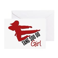 Tang Soo Do Girl Greeting Cards (Pk of 10)