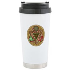 Celtic Reindeer Shield Ceramic Travel Mug