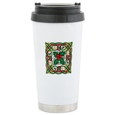 Celtic Garland & Holly Ceramic Travel Mug