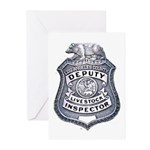 L.A. County Livestock Inspect Greeting Cards (Pk o