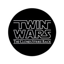 "Twins - Twin Wars 3.5"" Button (100 pack)"