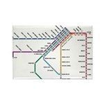 SF MUNI Map Rectangle Magnet (10 pack)
