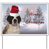 St. Bernard Santa Yard Sign
