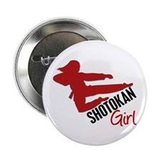 "Shotokan Girl 2.25"" Button"