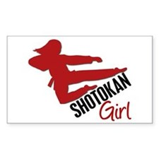 Shotokan Girl Rectangle Decal