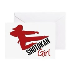 Shotokan Girl Greeting Card